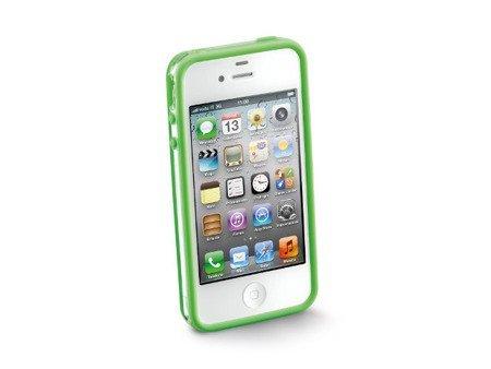 Opaska anti-shock Bumper do iPhone 4/4S zielona + 2 folie ochronne