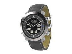 Cogito Classic Leather - analogowy zegarek z cyfrowym wyświetlaczem dla urządzeń z iOS i Andorid (srebrny)