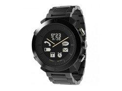 Cogito Classic Metal - analogowy zegarek z cyfrowym wyświetlaczem dla urządzeń z iOS i Andorid (czarny)