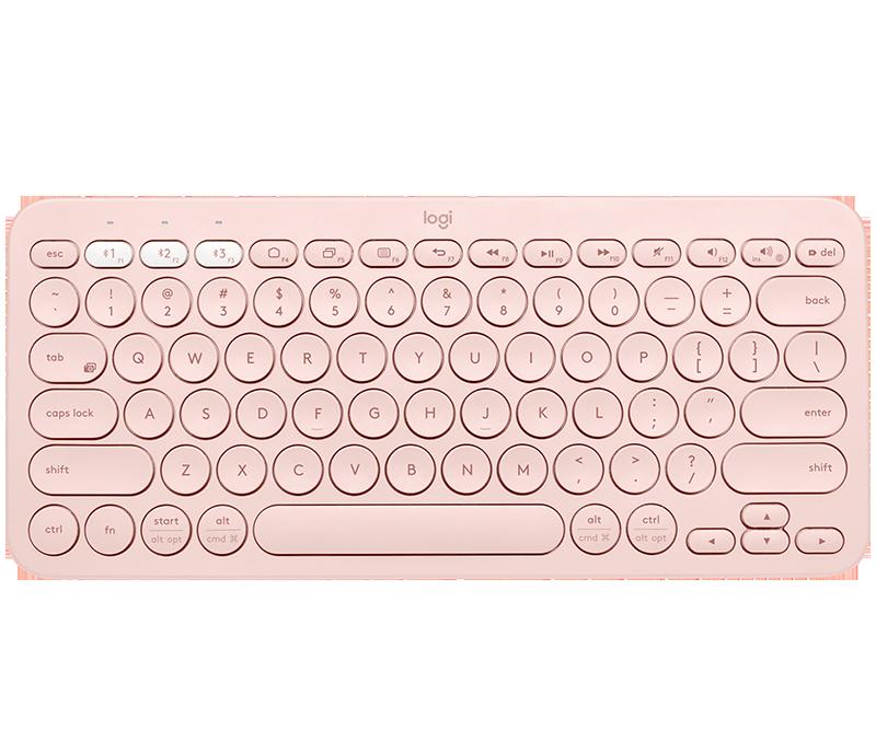 Klawiatura Bluetooth Logitech K380 różowa