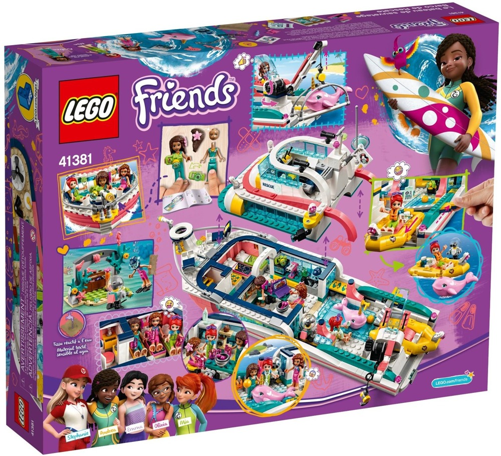 Klocki LEGO Friends - Łódź ratunkowa 41381