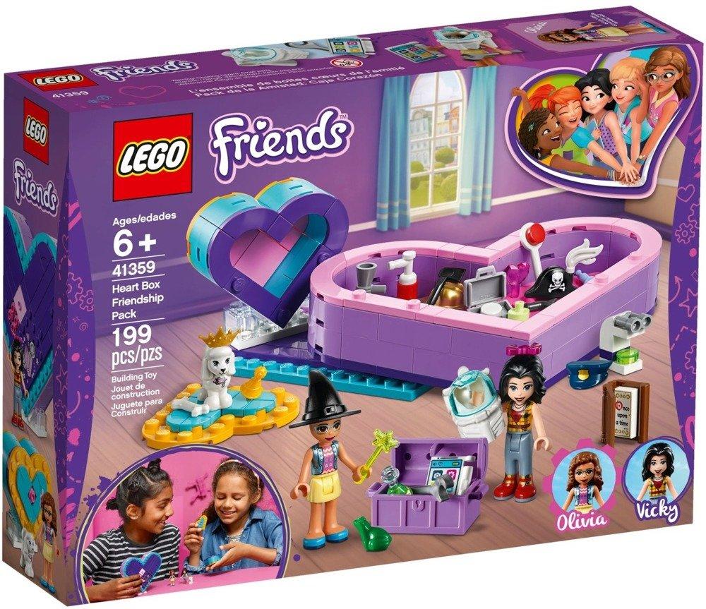 Klocki LEGO Friends Pudełko w kształcie serca Zestaw przyjaźni 41359