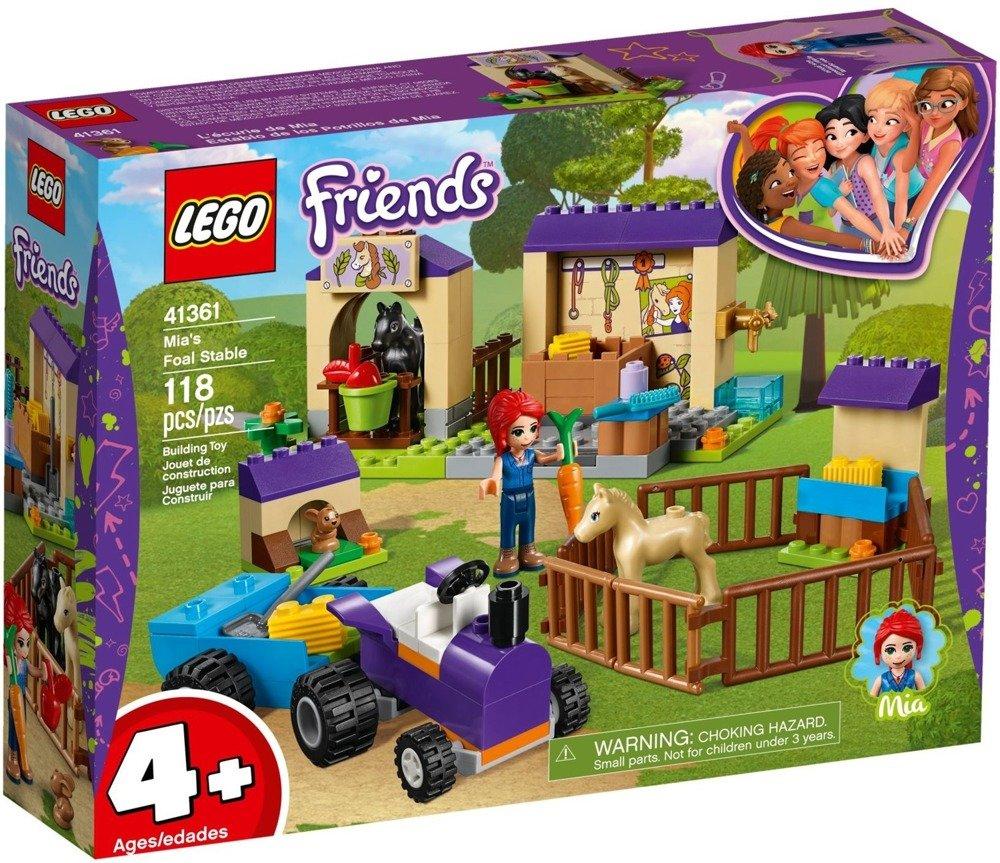 Klocki LEGO Friends Stajnia ze źrebakami Mii - 41361