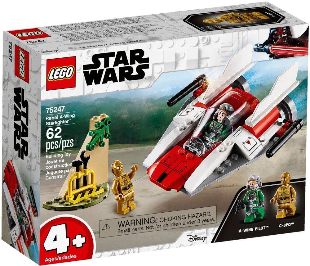 Klocki LEGO STAR WARS - Rebeliancki myśliwiec A-Wing - 75247