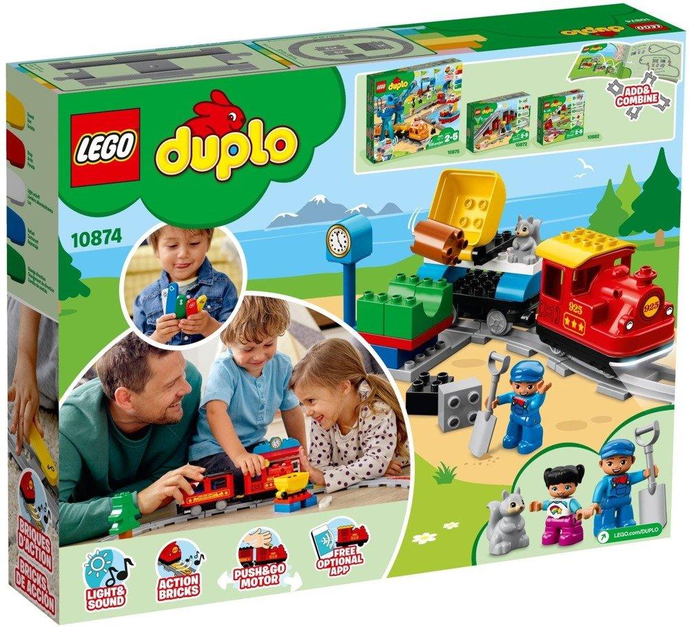 LEGO DUPLO - Pociąg parowy - 10874